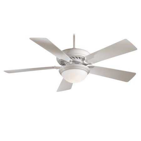 Minka Aire F569-WH Halogen 5 Blade 1 Light Ceiling Fan in White - blades Include