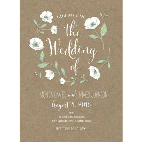 Walmart Com Wedding Invitations: Wedding Flowers Standard Wedding Invitation