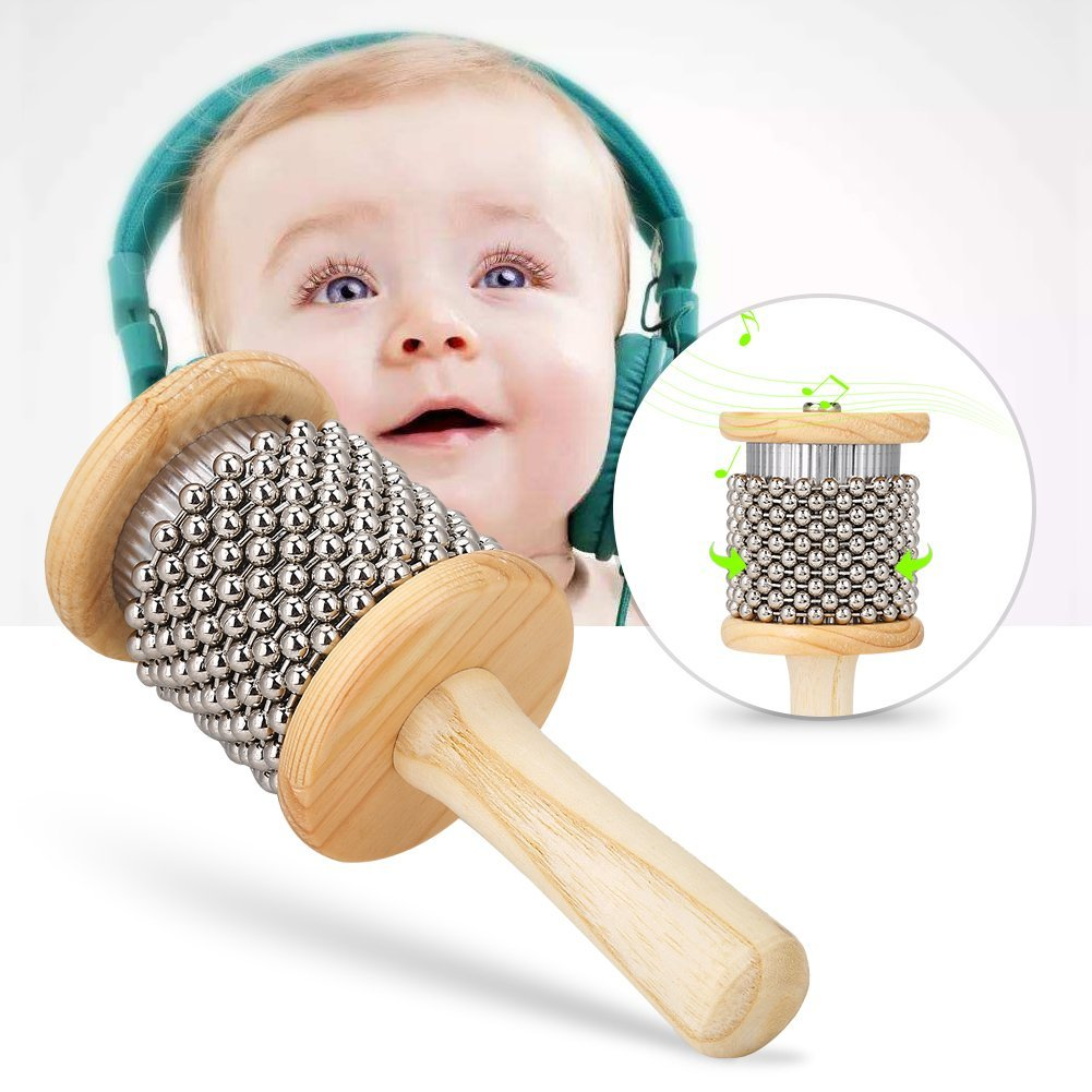 Cabasa kids Wooden Cabasa Small Size Hand Shaker Children Percussion Instrument Preschool... by