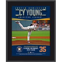 """Justin Verlander Houston Astros 10.5"""" x 13"""" 2019 AL Cy Young Award Sublimated Plaque"""