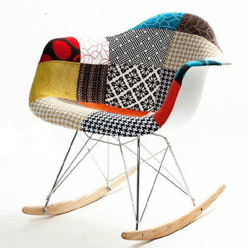 Fine Mod Imports Patterned Rocking Chair by Fine Mod Imports
