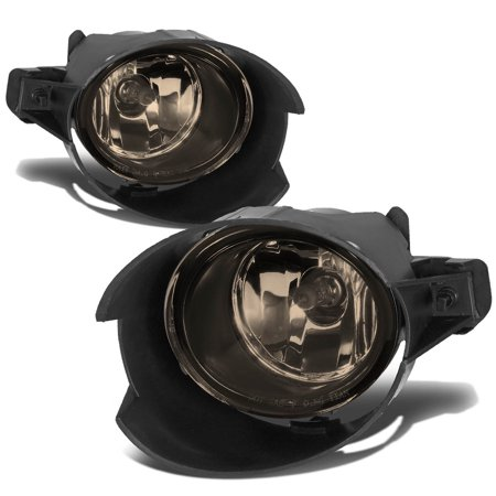 Nissan Sentra Fog Driving Light (For 2007 to 2009 Nissan Sentra 2.0L Front Bumper Driving Fog Light / Lmaps+Switch+Blubs Smoked Lens 08 Left+Right)
