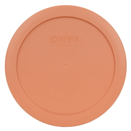 Cup Lids (Pyrex Replacement Lid 7201-PC 4-Cup Bahama Sunset Light Orange Plastic Cover for Pyrex 7201 Bowl (Sold)