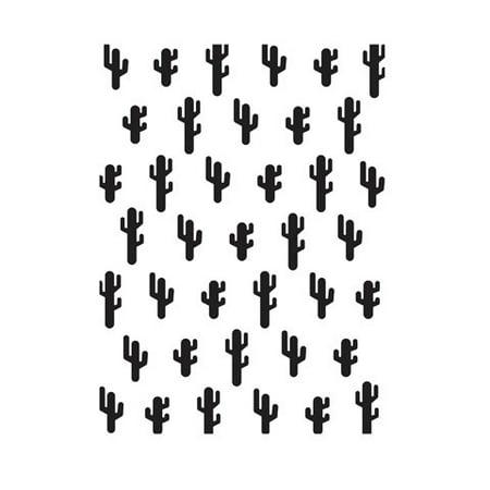 Cactus Embossing Folder: 4.25 X 5.75