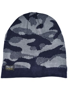 Product Image Polar Extreme Men s Polar Extreme Insulated Thermal Knit  Camouflage Beanie Black Gray   Navy cfbd19a5071b