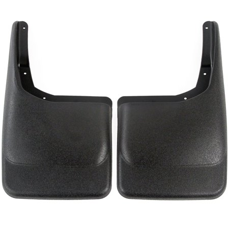 2004-2014 Compatible with Ford F150 Mud Flaps Guards Splash Rear Molded 2pc Set (Without Fender (F150 Mud Flap)