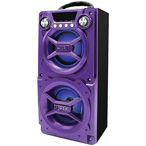 Sylvania SP328-PURPLE Bluetooth Speaker, Internal Battery, Speakerphone, USB Charging, Purple