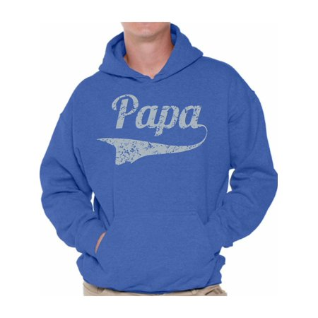 Awkward Styles Men's Papa Graphic Hoodie Tops Vintage Father`s Day Gift Best Dad Ever Papa