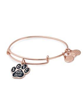 Rose Goldtone Paw Charm Bracelet