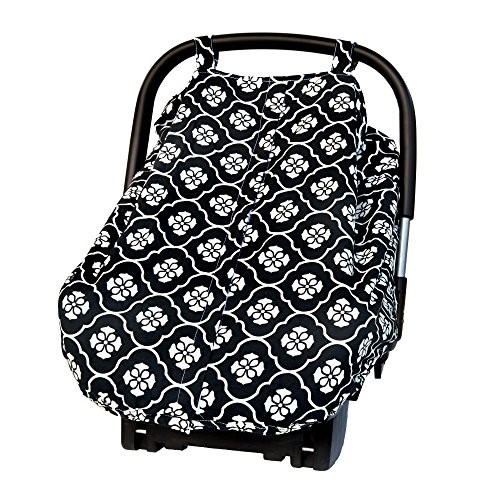 JJ COLE Car Seat Canopy - Black Floret