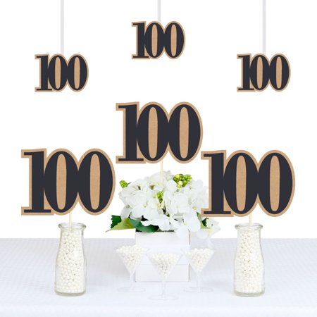100th Milestone Birthday - Dashingly Aged to Perfection - Decorations DIY Party Essentials - Set of - 100th Birthday Party Decorations