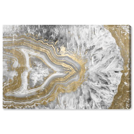 Oliver Gal \'Agate Geode Crystal\' | Abstract Wall Art - Gold and Gray ...