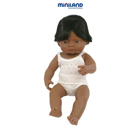 Miniland Educational 31157 Baby doll latinamerican boy (40 cm- 15 6/8;apos;;apos;)Case