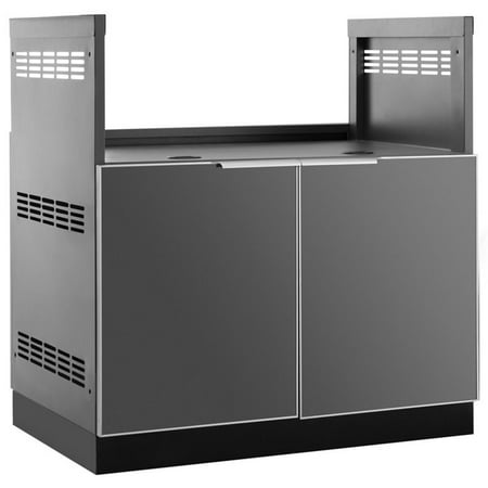 NewAge Outdoor Kitchen Insert Grill Cabinet in Aluminum Slate