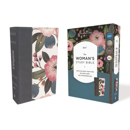 NIV, the Woman's Study Bible, Cloth Over Board, Blue Floral, Full-Color : Receiving God's Truth for Balance, Hope, and Transformation](Transformation Man To Woman)