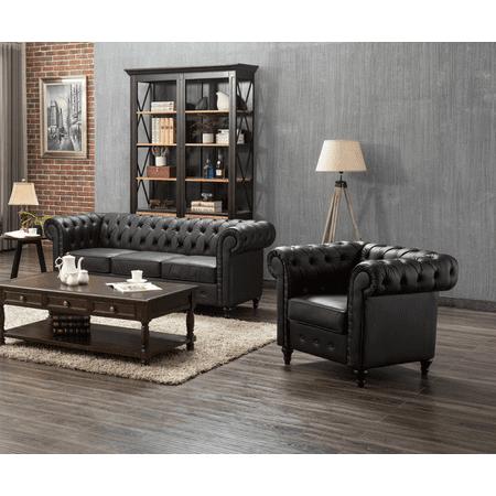 US Pride Furniture Teressa 2 Piece Living Room Set, Sofa, Chair ()