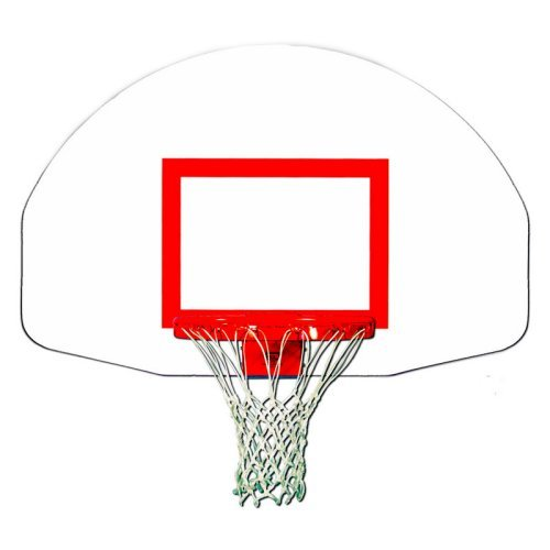 Trigon Sports Fan-Shape Steel Backboard with Target