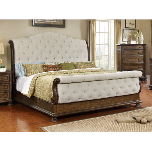 BestMasterFurniture Belle Upholstered Sleigh Bed by