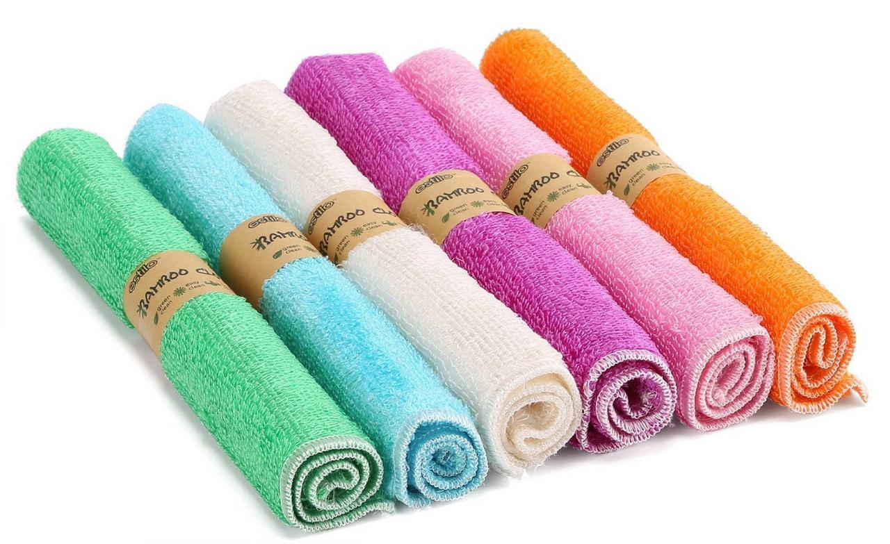 Estilo Bamboo Baby Washcloth Dye-Free, Super Soft and Absorbent Rayon From Bamboo & Organic Cotton Blend, 10 x... by Estilo