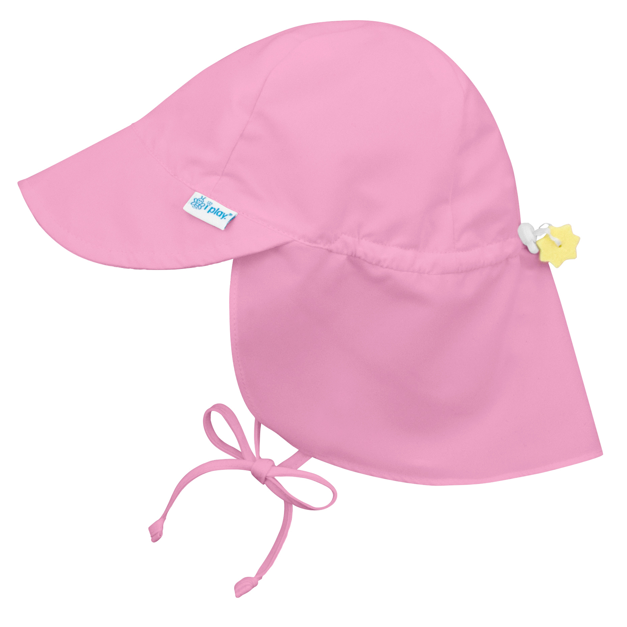 73cb41b1 Iplay Flap Sun Hat for Baby Girls Sun Protection Large Billed Hat- Solid  Light Pink-Infant 9-18 Months Baby Girl Hat Is Adjustable To Fit Outdoor Hat  With ...