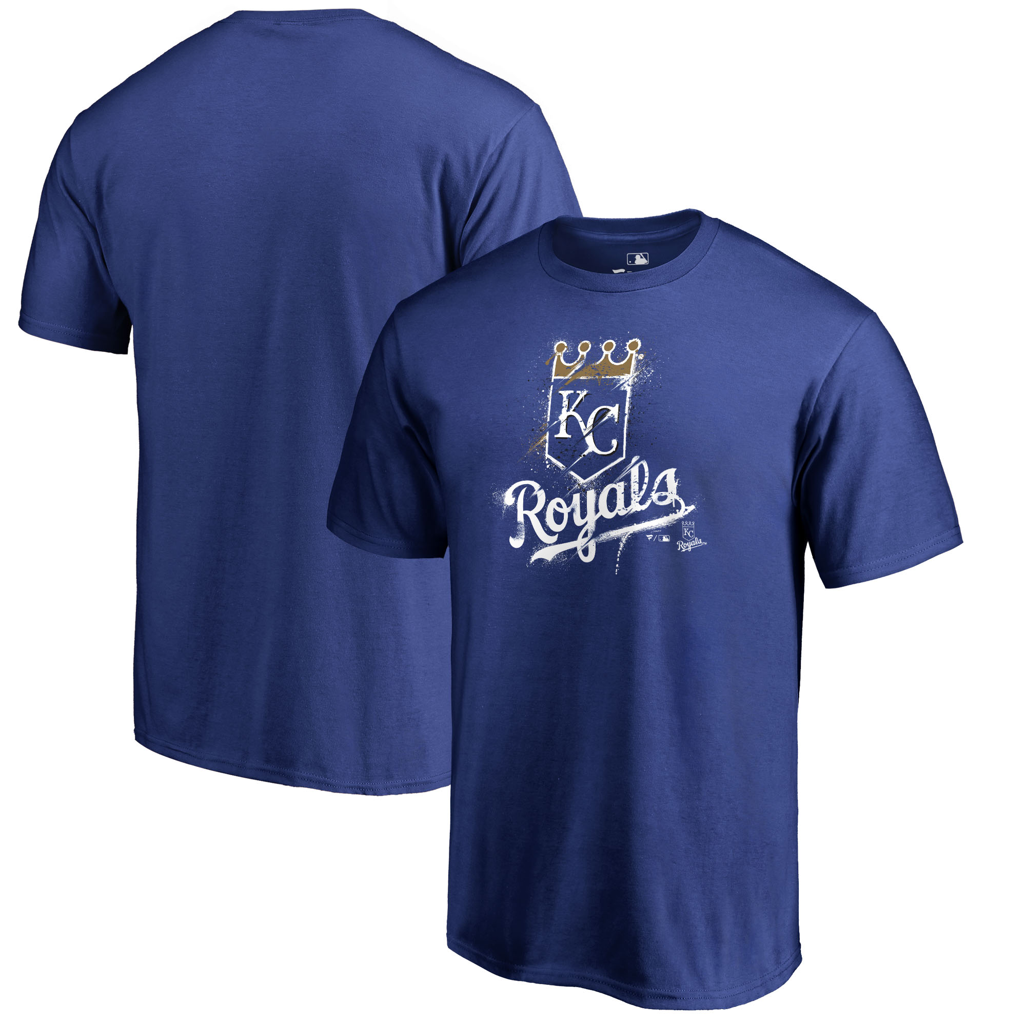 Kansas City Royals Fanatics Branded Splatter Logo Big and Tall T-Shirt - Royal