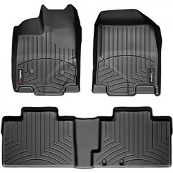Weathertech 44400-1-2 Front and Rear Floorliners Black To...