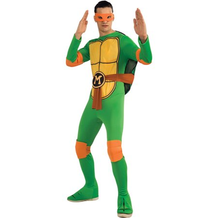Teenage Mutant Ninja Turtles Michelangelo Adult Halloween Costume - Teenage Mutant Ninja Turtle Muscle Halloween Costume
