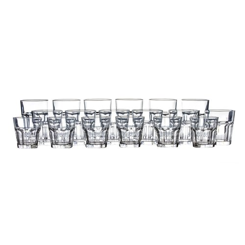 Click here to buy Alcott Hill Jansson Classic Every Day 18 Piece Glass Assorted Glassware Set.
