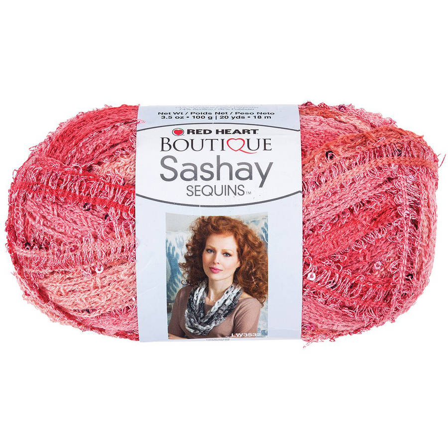 Red Heart Boutique Sashay Sequins Yarn, Available in Multiple Colors