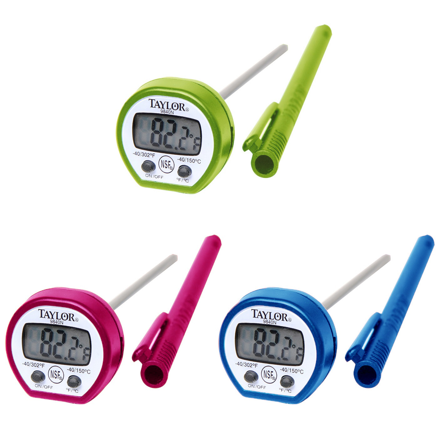 Taylor Classic Digital Instant Read Thermometer, Assorted Colors