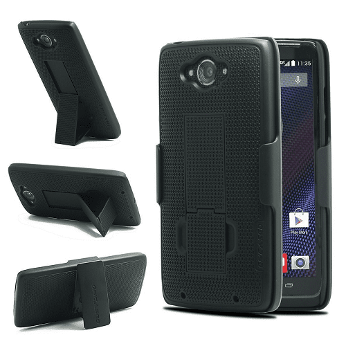 FYL Canvas Case Pouch Holster w Belt Clip For Verizon Motorola Droid Turbo 2 XT1585