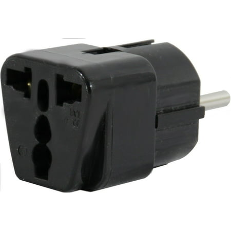 - US to SPAIN Travel Adapter Plug Dual USA/Universal EUROPE Type E (C/F) Pack 1