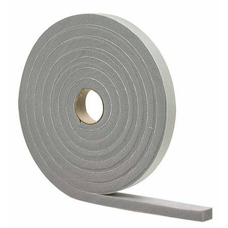 M-D Building Products 2733 M-D 0 High Density Closed Cell Self-Adhesive Foam Tape, 17 Ft L X 3/8 in W 3/16 in T, PVC, White Closed Cell Polyethylene Foam