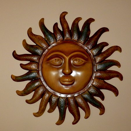LAMINATED POSTER Sun Decoration Artwork Carved God Wood Poster Print 24 x - Sun Decorations