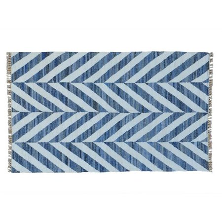 Rugs Sh22852 5 X 8 Ft  Hand Woven Geometric Durie Kilim Denim Jeans Oriental Rug