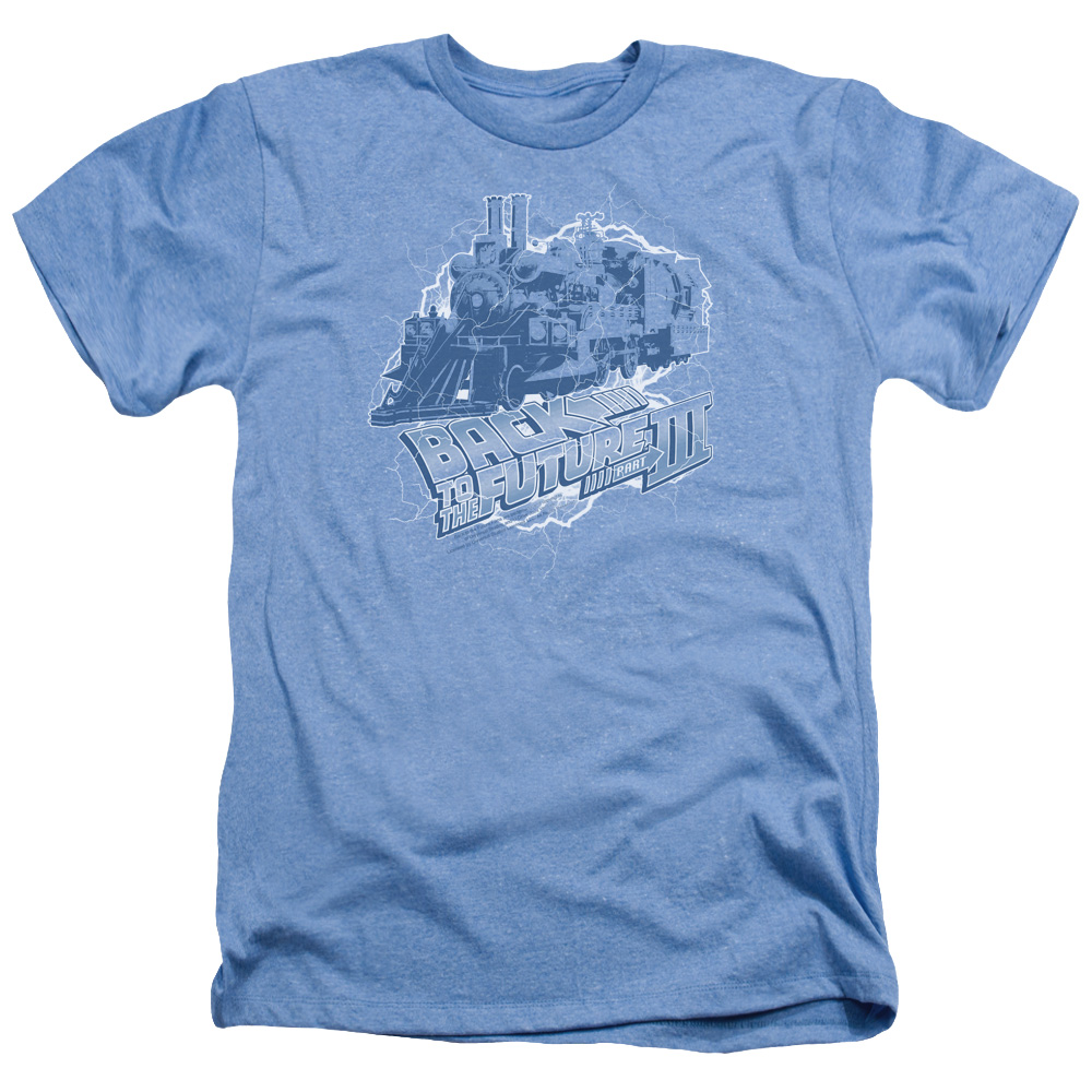Back To The Future Iii Time Train Mens Heather Shirt