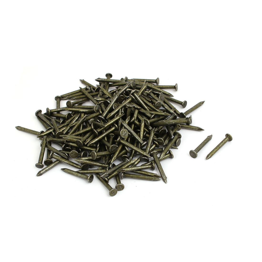 Fiber Concrete Cement Wall Carbon Steel Point Tip Wire Nails 2.8mmx25mm 300PCS - image 2 of 2