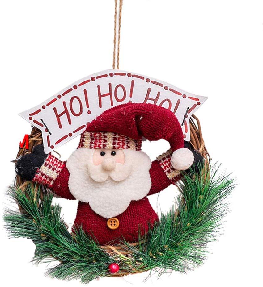 Gohope Christmas Wreath For Front Door 23cm Door Wreaths Christmas Home Door Hanger Wall Car Decoration C Walmart Canada