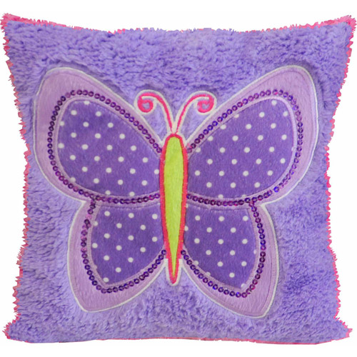 Mainstays Kids Decorative Pillow, Butterfly Patches