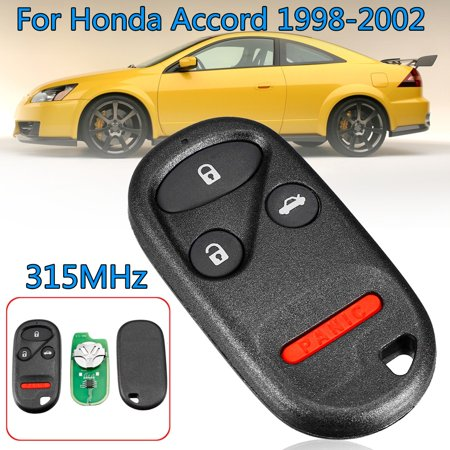 Keyless Entry Remote Control Replacement Car Key With Battery Fob Kobutah2t For Honda Accord 1998