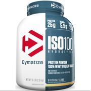 Dymatize ISO 100 Hydrolyzed Whey Protein Isolate Powder Birthday Cake 25g