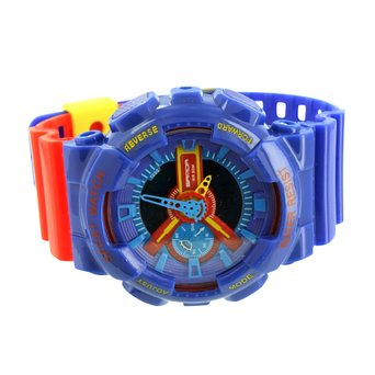 Shock Resistant Watch Mens Blue Red Yellow Sports Edition Analog Digital