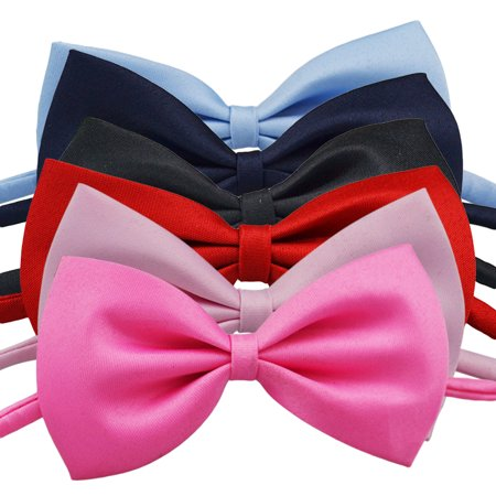 9f2ea2696 Children Bow Tie Boy Bowtie for Kids Dressing Decoration (Black & Red &  Pink & Peach Red & Wathet & Navy Blue), 6pcs Pack - Walmart.com