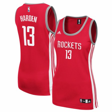 sports shoes 9793e dc61e James Harden Houston Rockets NBA Adidas Red Official Away ...