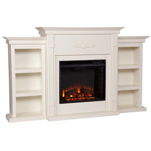 blvd dublin 70 inch ivory electric fireplace