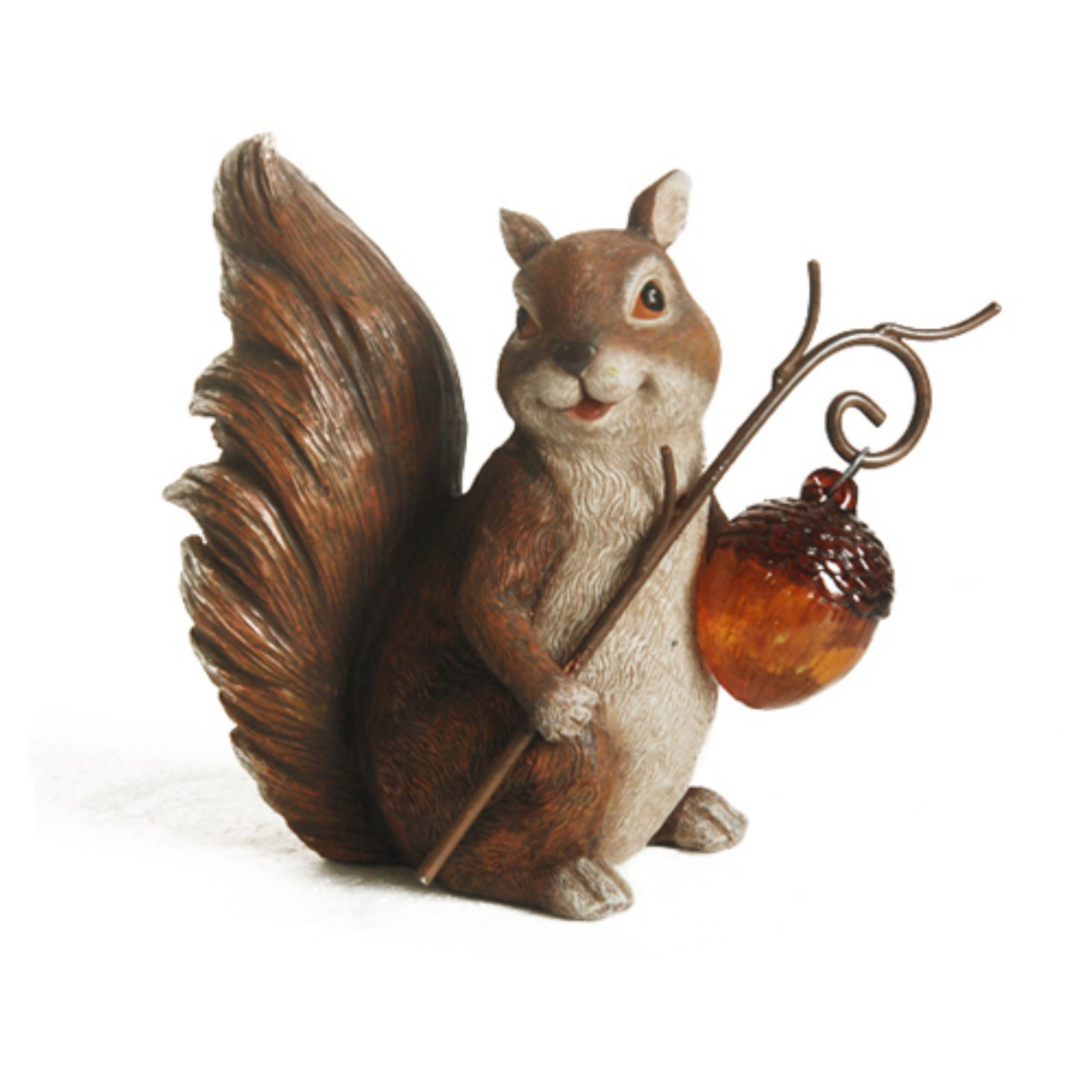 Northlight Squirrel With An Acorn Solar Lighted Outdoor Garden Statue