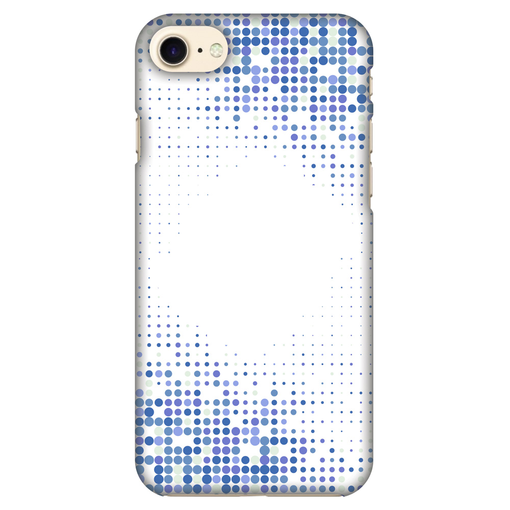 iPhone 8 Case - Blue Matrix, Hard Plastic Back Cover. Slim Profile Cute Printed Designer Snap on Case with Screen Cleaning Kit