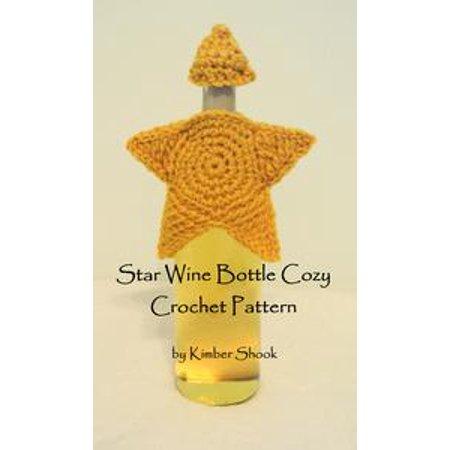Star Wine Bottle Cozy Crochet Pattern - - Halloween Crochet Coffee Cozy