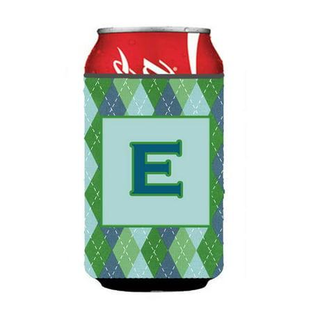 Letter E Initial Monogram - Blue Argoyle Can Or Bottle  Hugger - image 1 de 1