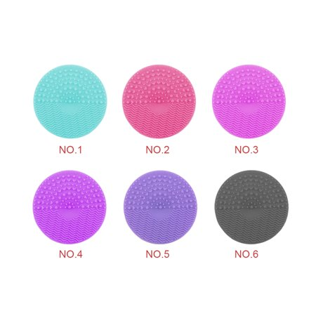 Silicone Makeup Brush Cleaning Mat Makeup Brush Cleaner Pad Cosmetic Brush Cleaning Scrubber Washing Tool - image 3 of 9